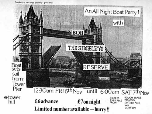 flyer for the Boat Party on the Thames