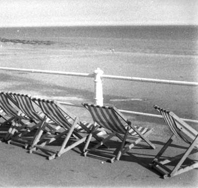 deck chairs in Margate by Andrew Brown