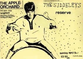 Flyer for a gig at The Apple Orchard, The Escape Club, Brighton