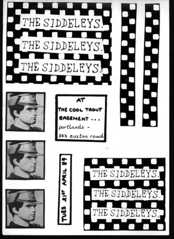 Flyer for a gig at Portlands, London, England 1987